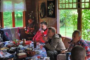 Zbyszek, Tomek, Marek i głowa Krzysia